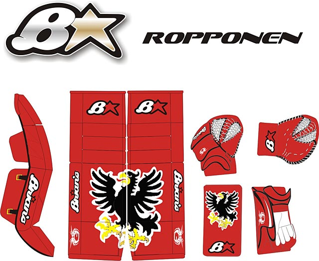 Brians Red Baron goalie equipment design