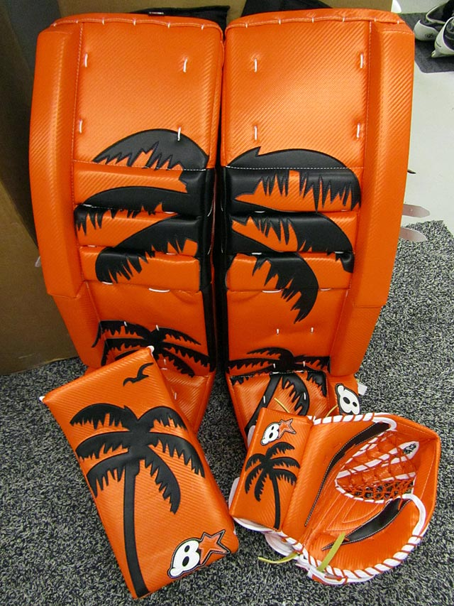 crazy hockey goalie pads