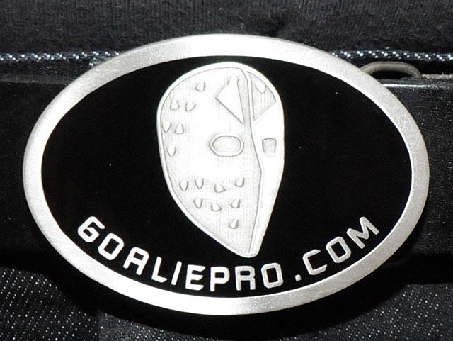 Näyttävä 8,5 cm levä GoaliePro messinkisolki